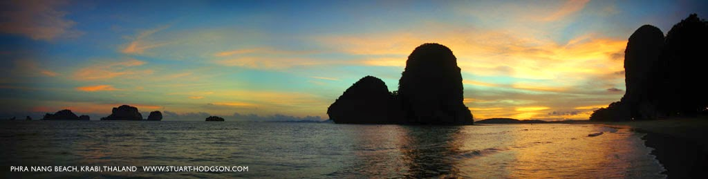 Phra Nang beach at sunset, Railay, Krabi, Thailand, worlds best beach