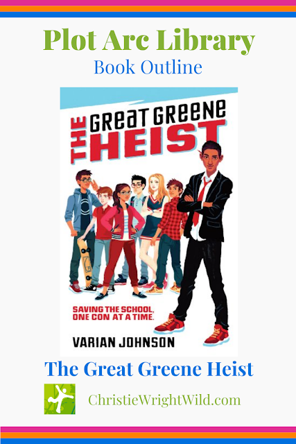 I found this book at a Scholastic Book Fair held at my children's elementary school years ago. When I read the back-cover copy, I was intrigued and subsequently purchased the book. The Great Greene Heist by Varian Johnson has been called an Ocean's Eleven book for kids.