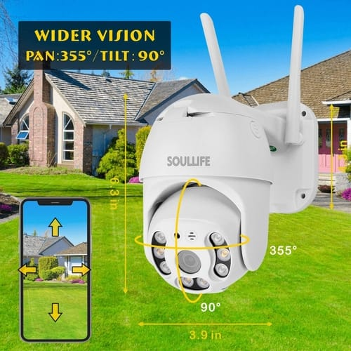 Review SOULLIFE Outdoor Security Zoom 4X WiFi Camera