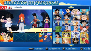 NUEVA!! ISO DBZ TTT MOD SUPER VS AF CON MENÚ PERMANENTE [FOR ANDROID Y PC PPSSPP]