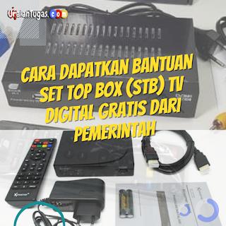 Cara Daftar bantuan Set Top Box (STB) TV DIGITAL GRATIS dari pemerintah