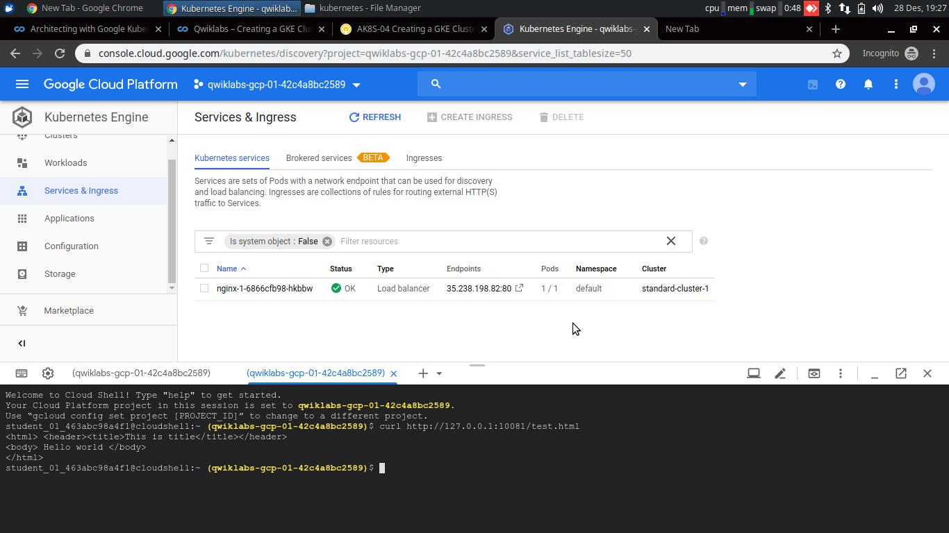 deployment kubernetes menggunakan script on GCP