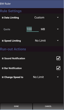 Bandwidth ruler FREE speed limit