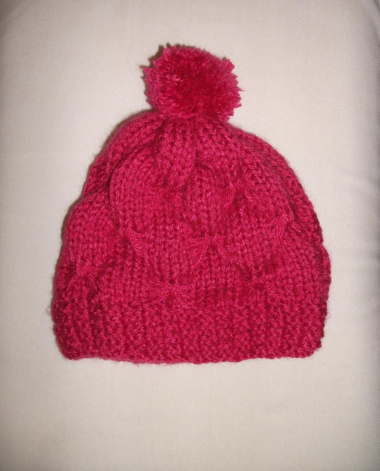 MIMOS DA MILTINHA...  Gorro de trico borboleta infantil pink 51b998196de
