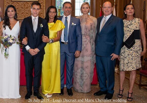 Princess Charlene and Prince Albert of Monaco held a dinner at the Prince's Palace