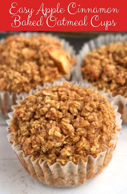 Easy Apple Cinnamon Baked Oatmeal Cups
