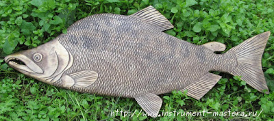 декоративное резное блюдо под рыбу