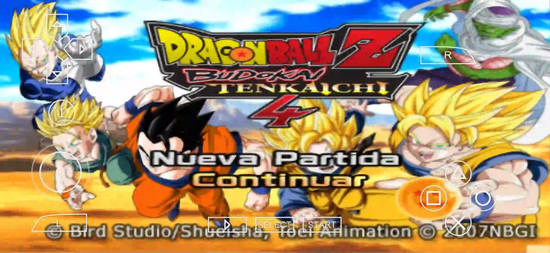 DBZ Budokai Tenkaichi 4 PSP ISO Download