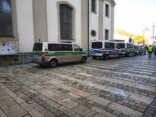 Polizei Querdenken Traunstein Stadtplatz