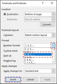 Mengganti Format Nomor Footnotes 3