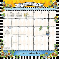 Suzy Toronto's 2017 Don't Let Anyone Dull Your Sparkle Wall Calendar, March Page