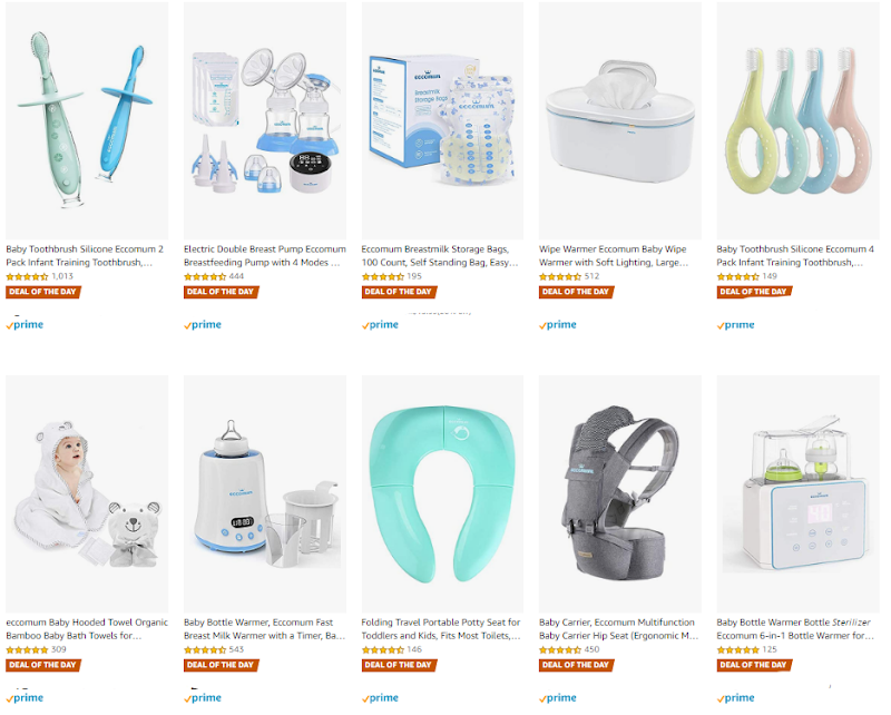 TODAY ONLY  20% off Eccomum Baby Products