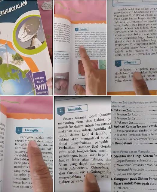 Video Viral Buku Ilmiah IPA, Seorang Pria Sebut Virus Corona Tidak Berbahaya