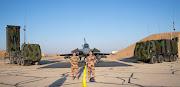 Système de défense anti-aérienne SAMP/T Mamba sur la base aérienne projetée (BAP) en Jordanie