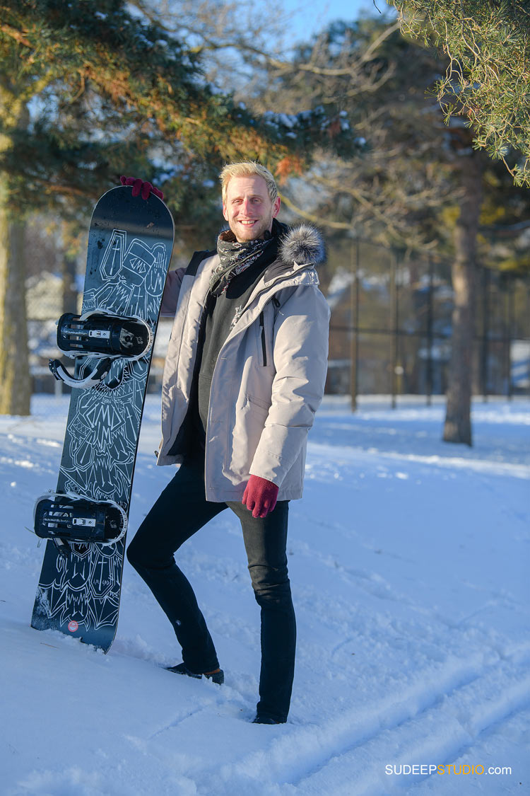 Internet Online Dating Portraits with snowboarding sports Look by SudeepStudio.com Ann Arbor Portrait Photographer