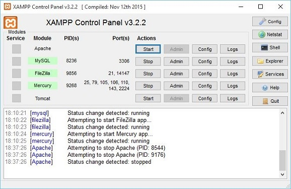 Tips and trik Cara mengatasi ''Apache'' Xampp v3.2.2 tidak berjalan (tidak aktif) di Windows 10