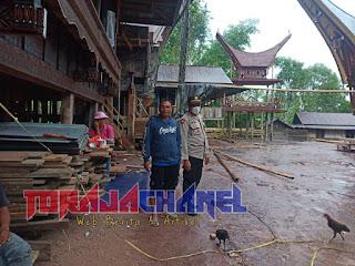 Diduga Jadi Tempat Praktek Judi Sabung Ayam, Polisi Mendatangi Tongkonan di Balusu