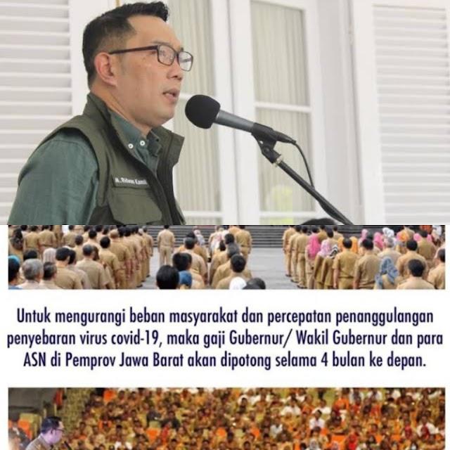 Wabah Covid-19, Ridwan Kamil Akan Potong Gaji PNS Selama 4 Bulan