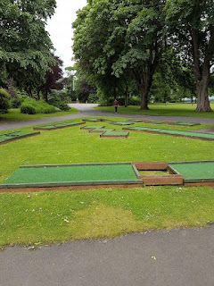 Crazy Golf course at Duthie Park in Aberdeen. Photo by Pam Woodcock, 1st July 2017