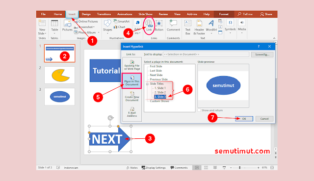 cara membuat hyperlink di powerpoint 2010