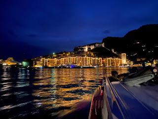Approaching Porto Venere at night