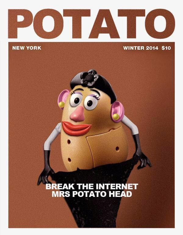 Funny  Mrs Potato Kim Kardashian Nude picture