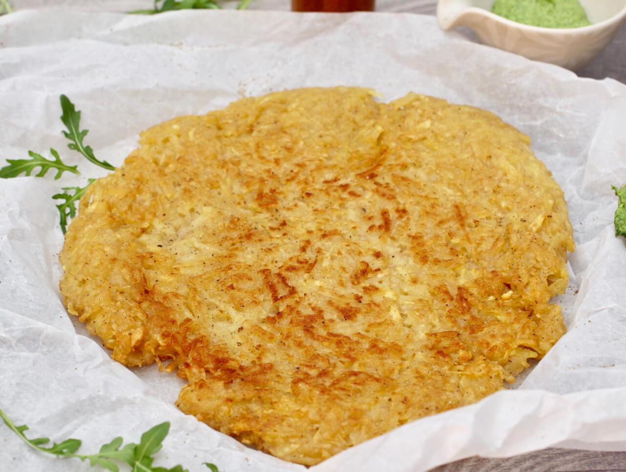 Rezept Kartoffelrösti mit Rucolacreme
