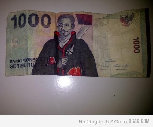 iklan lucu uang