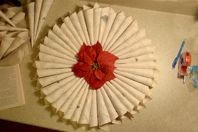 how to make book page wreath