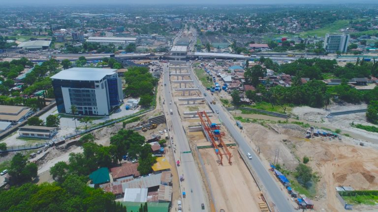 PICHA: Ujenzi Wa Barabara Za Juu Makutano Ya Ubungo (Ubungo Interchange)
