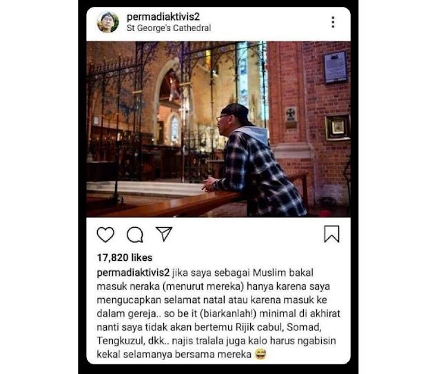 Abu Janda Koar-koar Gak Apa-apa Masuk Neraka Asal di Akhirat Tidak Bersama HRS, Netizen Aminkan: Bulan Ramadhan Doa Dikabulkan