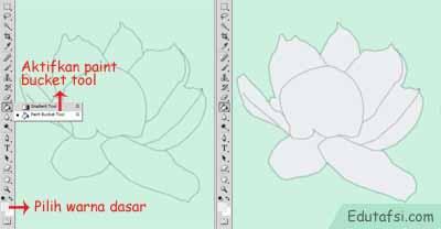 Menggambar bunga melati menggunakan photoshop