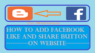 blogspot website blogger like and share button
