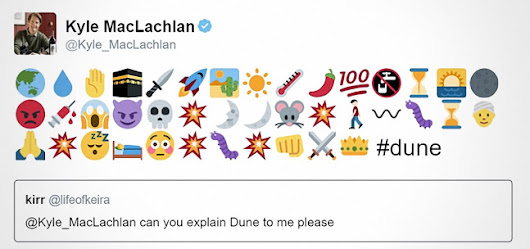 "A startlingly clear recap of ""Dune"" in emojis."