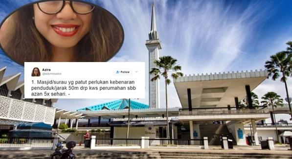 BIADAB!!! Aktivis Bebas Ini Tuntut Masjid Mohon KEBENARAN Sebelum Laung Azan Solat 5 Waktu Setiap Hari!!! Nama Macam Islam Tapi Pemikiran Macam Yahudi!!!