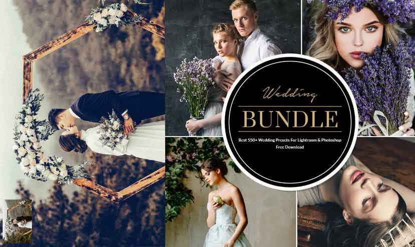 550+ Wedding Presets For Lightroom & Photoshop Free Download