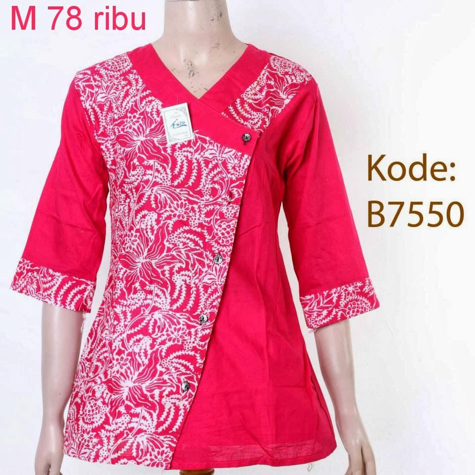 Model Baju Batik Kerja Muslimah Terbaru: Pakaian Muslim Modern Contoh Baju Muslim Terbaru