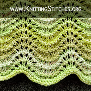 Old Shale Technique & Patterns. Free Knitting Pattern.