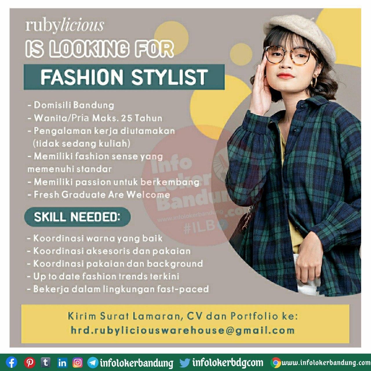 Lowongan Kerja Fashion Stylist Rubylicious Bandung September 2020