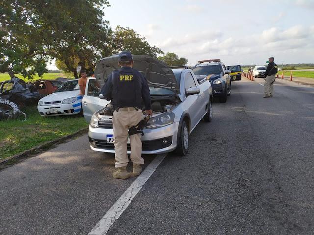 Veículo roubado em Recife é recuperado pela PRF na BR 101 no RN