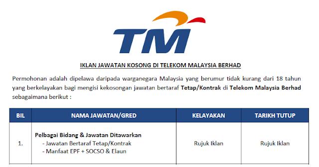 kerja kosong telekom malaysia