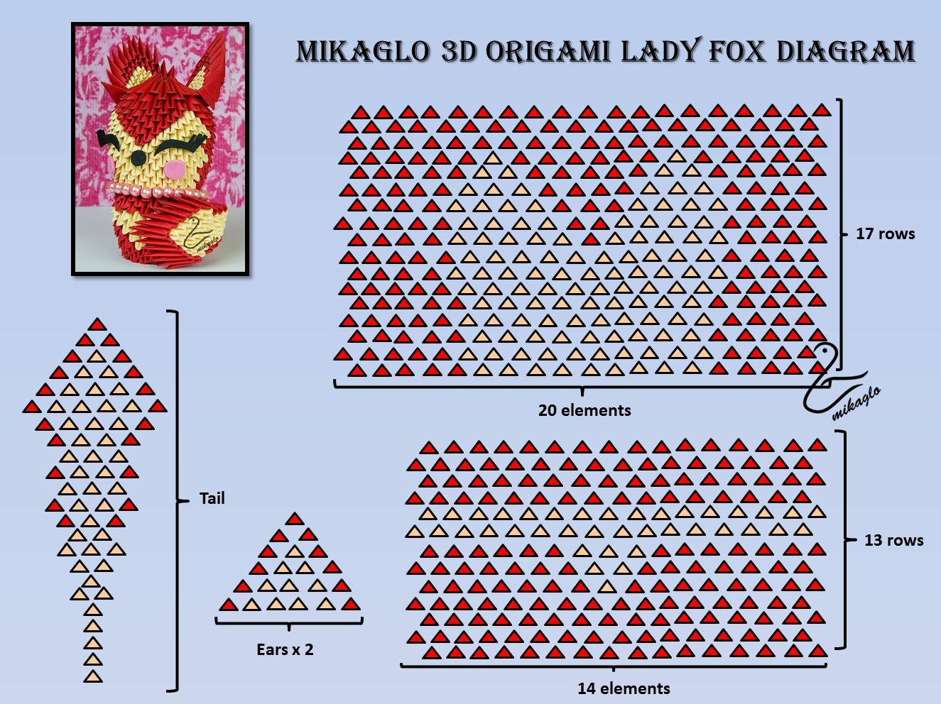 medium resolution of 3d origami fox diagram wiring diagram schematics easy origami rabbit sitting 3d origami fox diagram