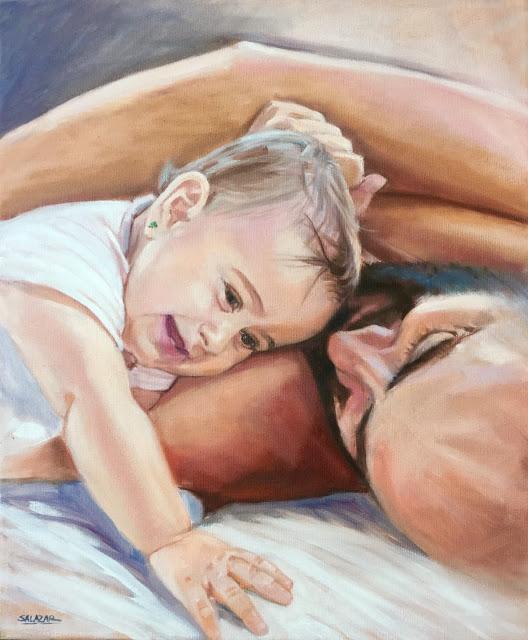 Retrato al oleo para el dia del padre