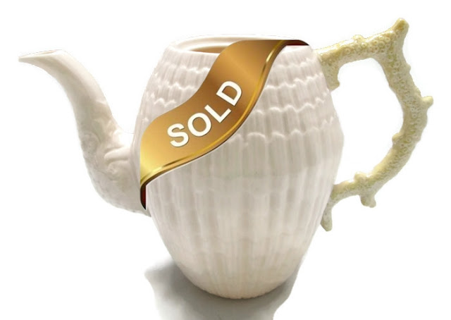 Teapot, Sixth Mark/Third Green, NO LID by Belleek Limpet