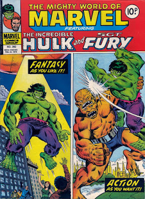 Mighty World of Marvel #282, the Hulk vs the Bi-Beast
