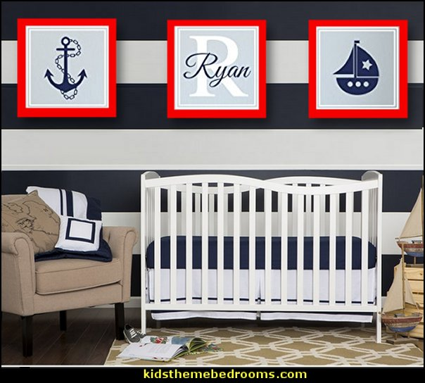 nautical baby bedroom decorating ideas - nautical nursery decor - sailboat nursery decor - nautical nursery wall decals - nautical crib bedding - nautical baby bedrooms nautical baby decor - Baby and Kids Nautical Decor