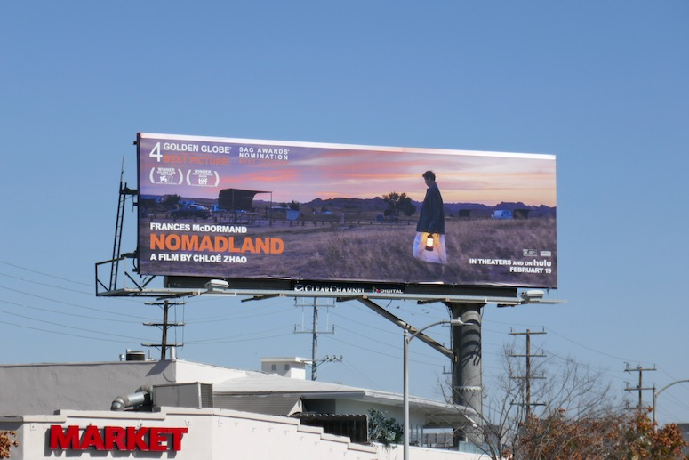Nomadland Hulu movie billboard