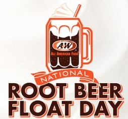 "A&W Root Beer will be celebrating National Root Beer Float day by giving you chances to ""float a friend"" and win A&W gift cards and other great prizes like free Root Beer Floats for a year!"