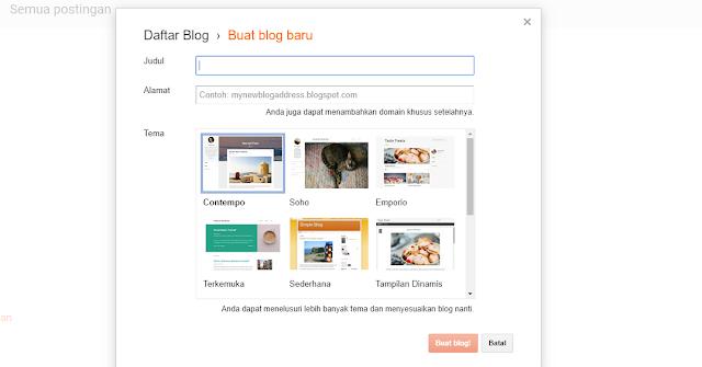 membuat alamat blog baru