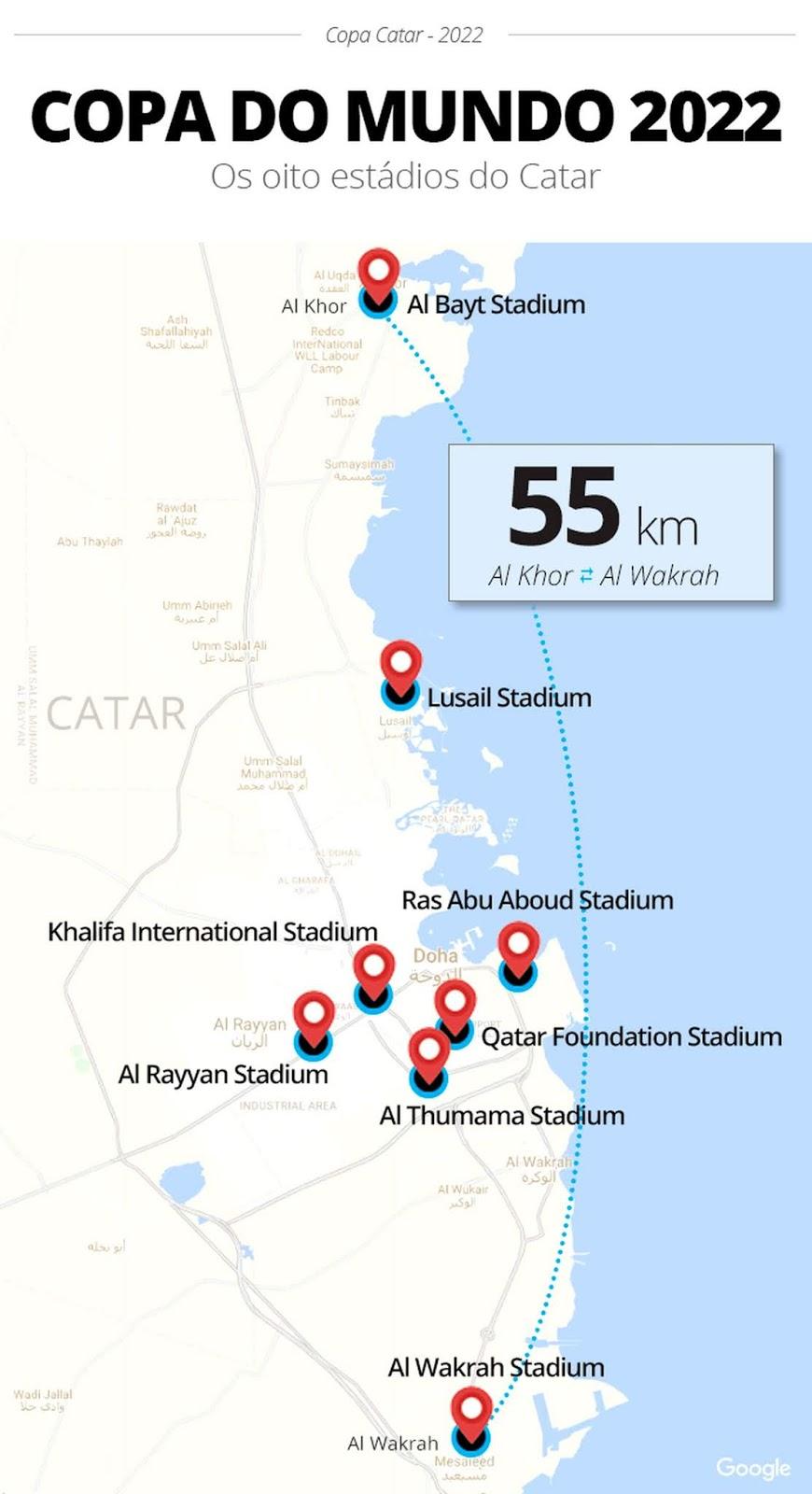 Catar 2022 | Estádios da Copa do Mundo Fifa 2022